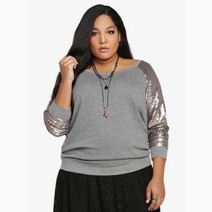 torrid sequin sweatshirt plus size 4
